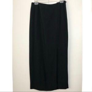 Liz Claiborne Black Maxi Pencil Skirt with Slit